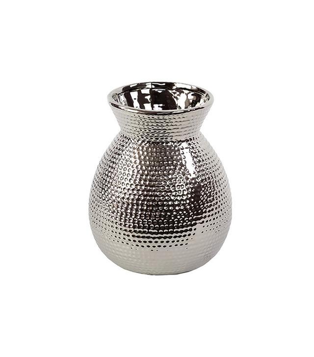 Woodland Imports Broad and Beveled Neck Ceramic Vase