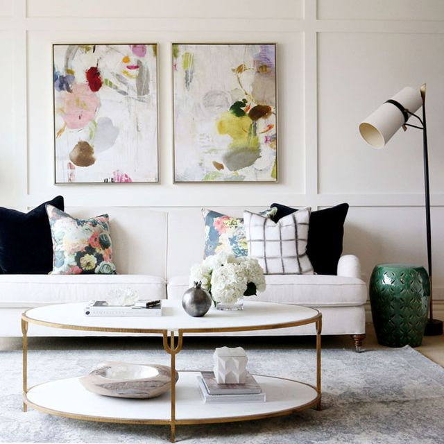 Inside a Polished Living Room With Perfect Pops of Colour