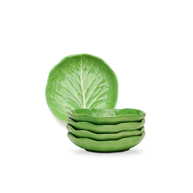 Dodie Thayer for Tory Burch Lettuce Ware Canapé Plate