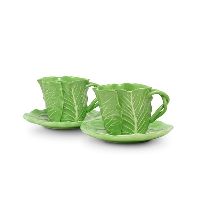 Dodie Thayer for Tory Burch Lettuce Ware Cup & Saucer