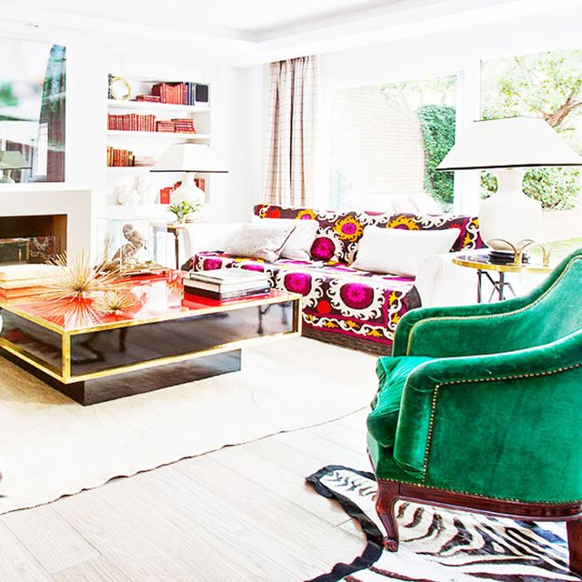 5 of the Most Stunningly Colourful Living Rooms