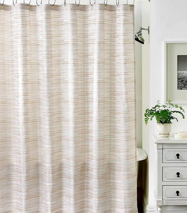 Martha Stewart Collection Segment Stripe Shower Curtain