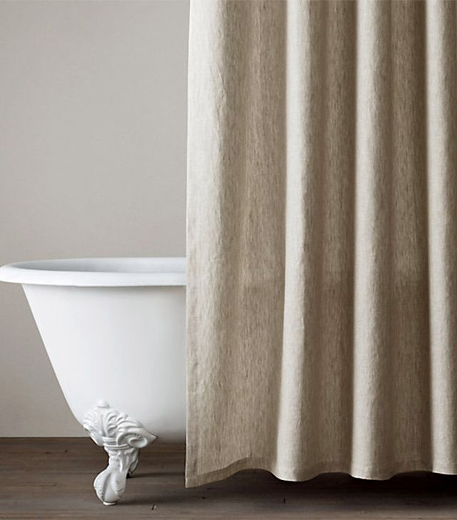 Restoration Hardware Vintage-Washed Belgian Linen Shower Curtain