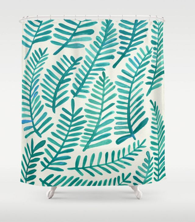 Cat Coquillette Green Fronds Curtain