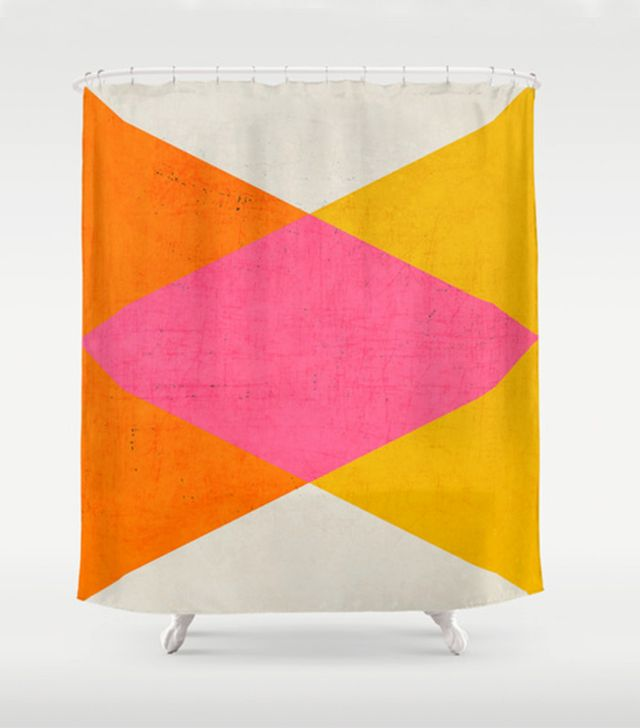 Her Art Summer Triangles Curtain