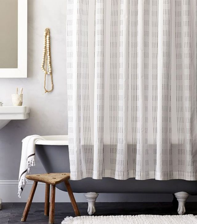 West Elm Dotted Stripe Shower Curtain