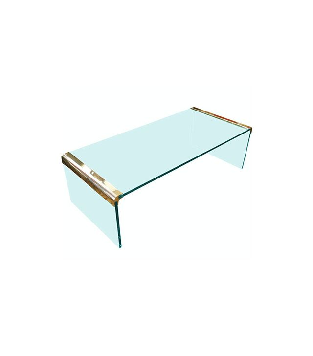 1stdibs Pace Collection Brass and Glass Table