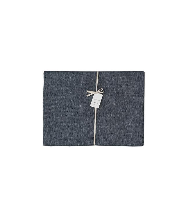 Fog Linen Works Denim Linen Tablecloth