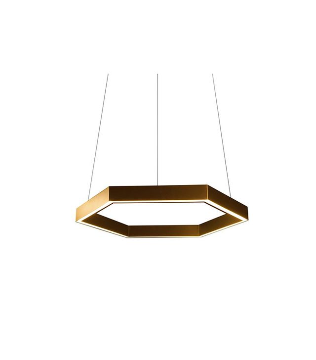 Resident Studio Hex 750 Pendant: Brass