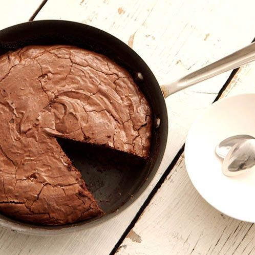 How to Bake a Double-Chocolate Brownie in a Skillet
