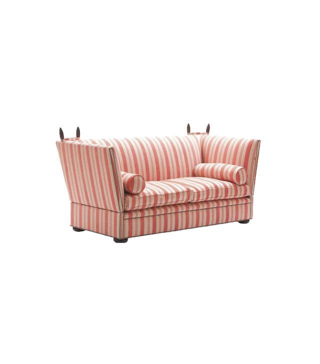 George Smith Tiplady Knole Sofa in Grapefruit Stripe
