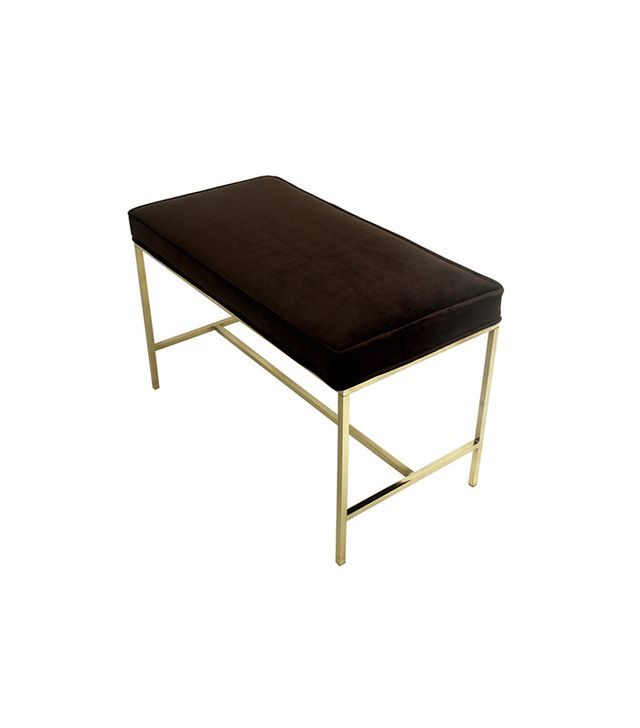 Paul McCobb Modernist Brass Bench