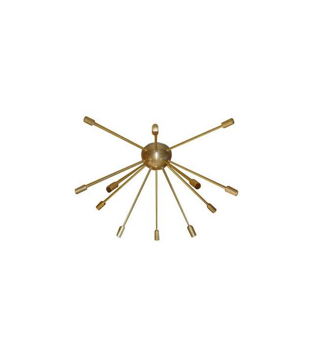 Dot&Bo Raw Brass Sputnik Chandelier