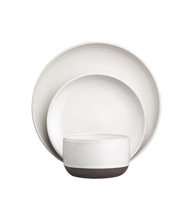 CB2 Black Clay Dinnerware