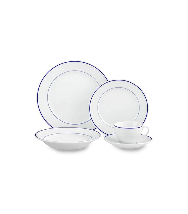 Apilco Tradition Blue-Banded Porcelain 5-Piece Place Setting