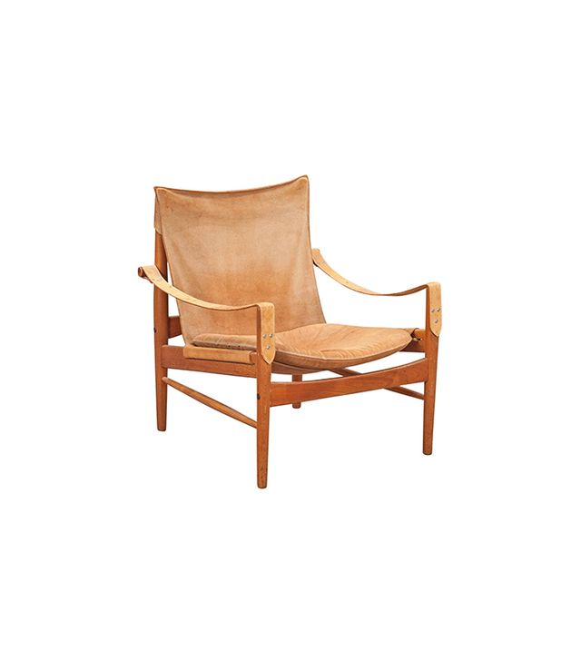 1stdibs Hans Olsen, 1960s Suede and Leather Safari Chair
