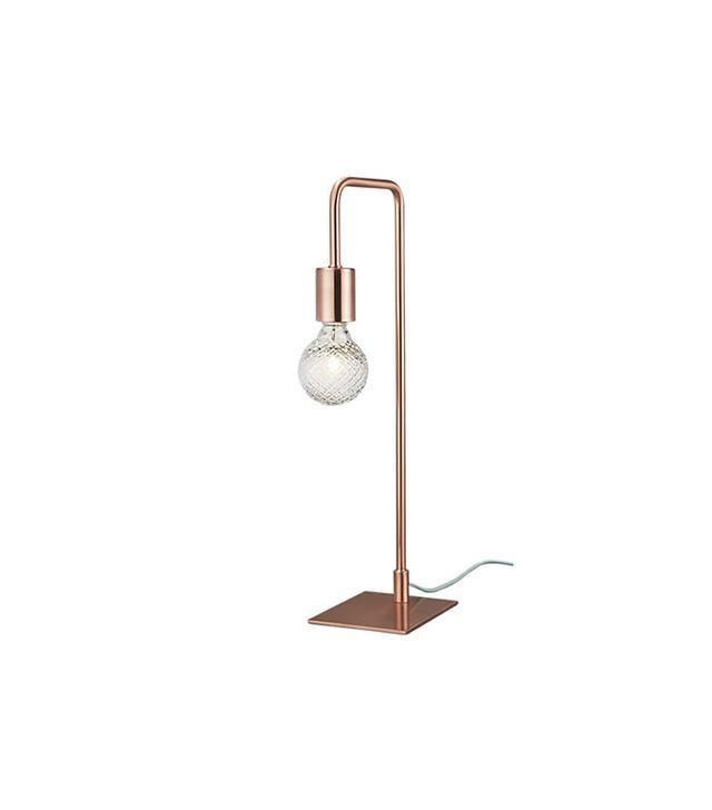 CB2 Copper Arc Table Lamp