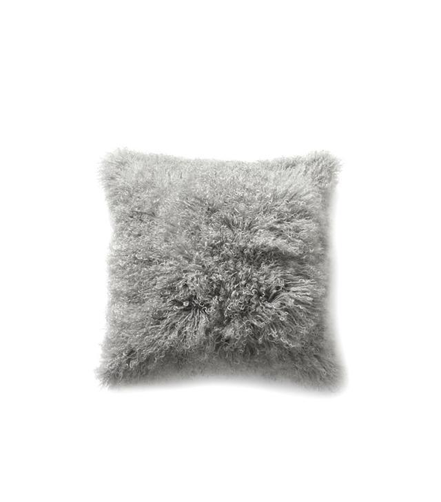 West Elm Mongolian Lamb Pillow