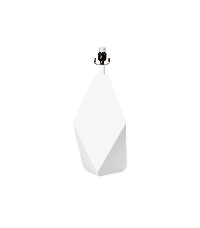 Nate Berkus White Faceted Lamp Base