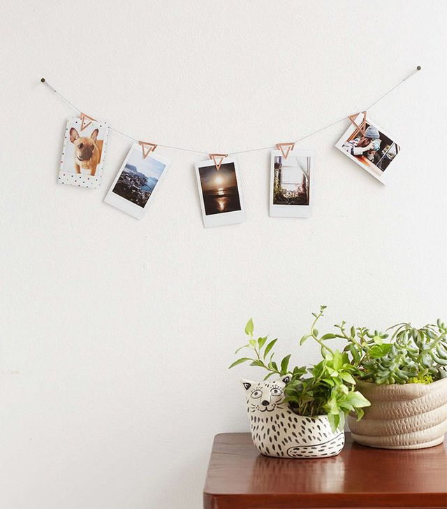 Urban Outfitters Copper Photo Clip Banner