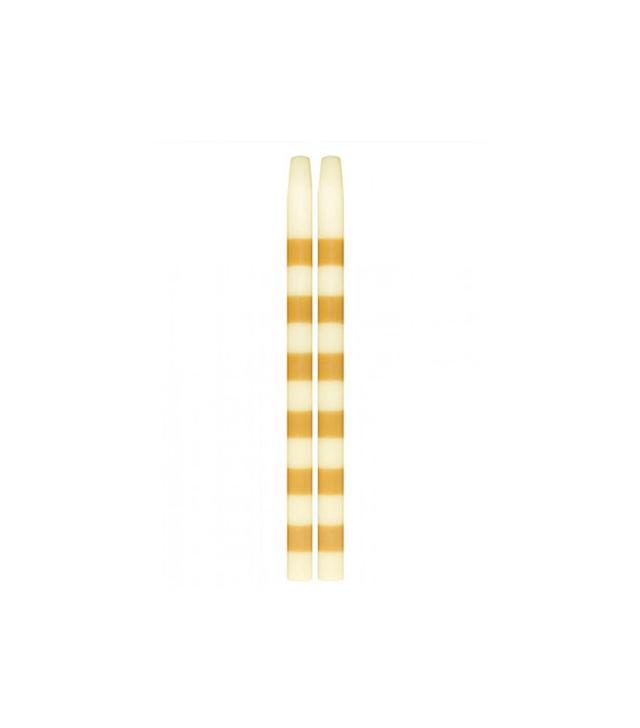Lulu & Georgia Striped Taper Candle