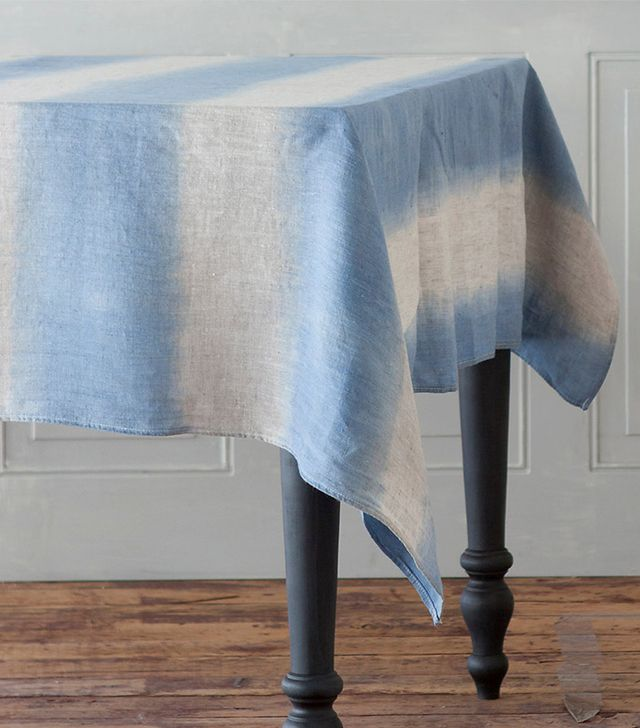 Terrain Hand-Dyed Linen Stripe Tablecloth