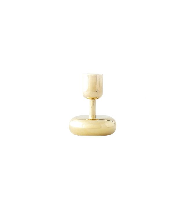 Iitalla Nappula Small Brass Candle Holder