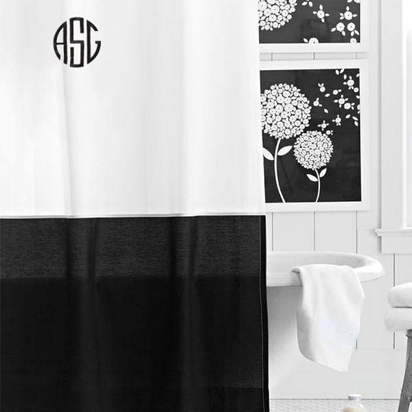 PB Teen Classic Border Shower Curtain