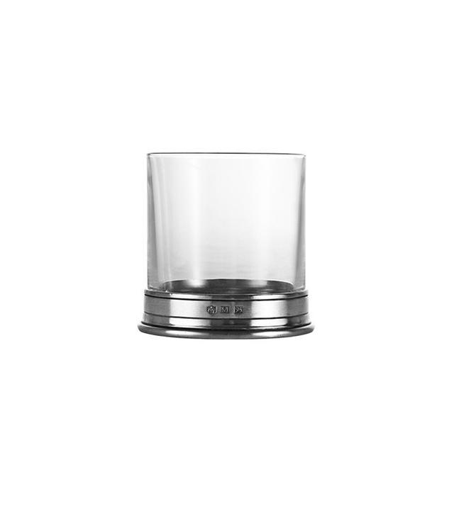 Kaufmann Mercantile Crystal & Pewter Double Rock Glass