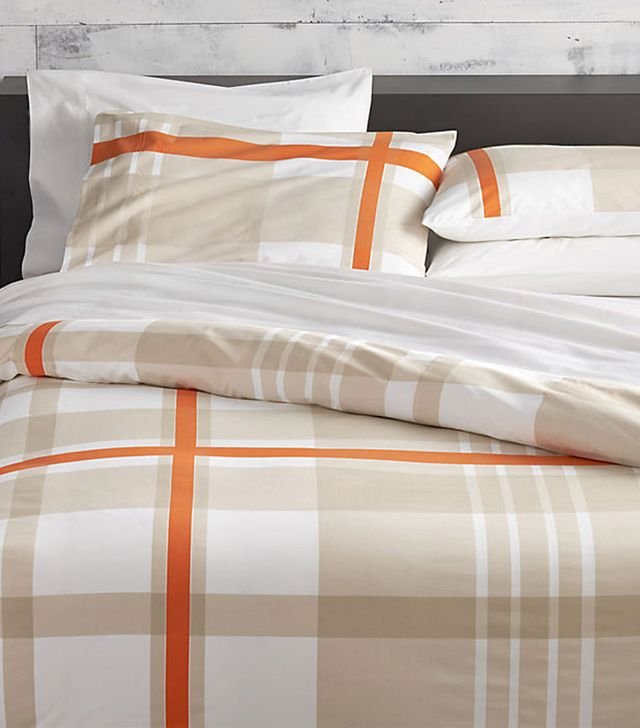 CB2 Lively Orange Bed Linens