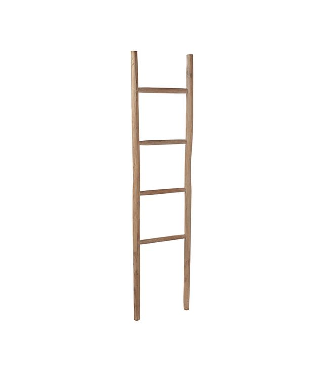 Serena & Lily Whitewashed Teak Ladder
