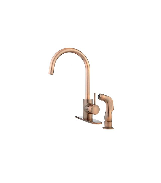 Signature Hardware Henton Kitchen Faucet in Copper