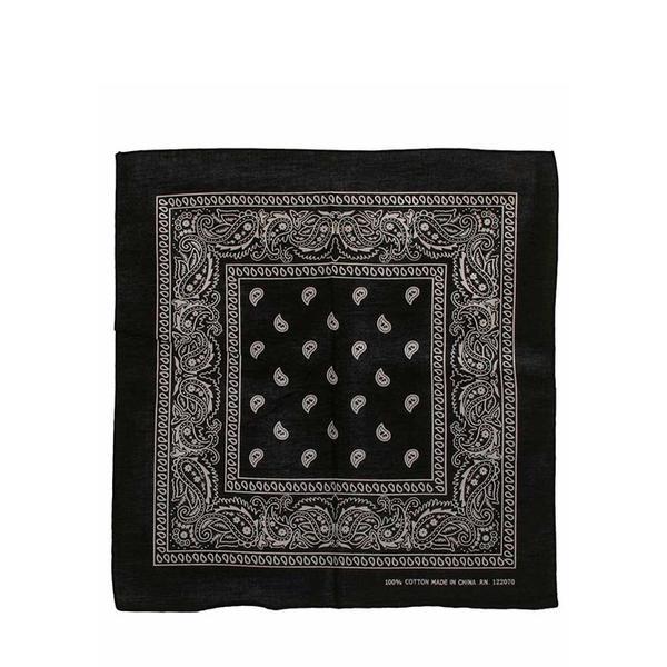 Best Bandanas Black Paisley Cotton Bandana