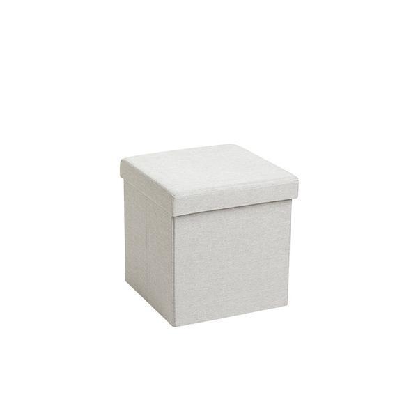 Poppin Light Grey Box Seat