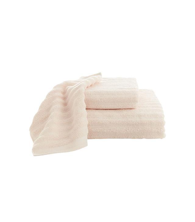 CB2 Channel Pink Cotton Bath Towels