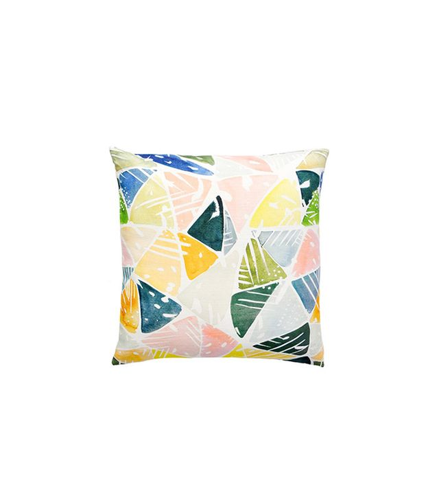 Yao Cheng Emerald Triangles Pillow