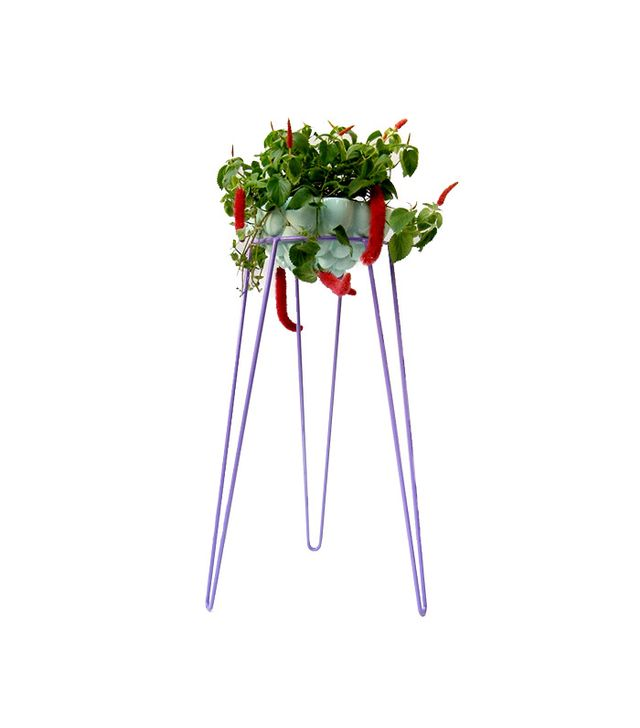 Wirely Home Mauve Metal Wire Plant Stand