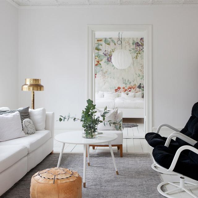 Inside an Airy and Feminine Scandinavian Apartment