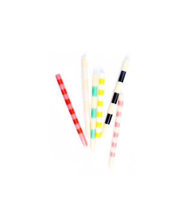 Lulu & Georgia Striped Taper Candles