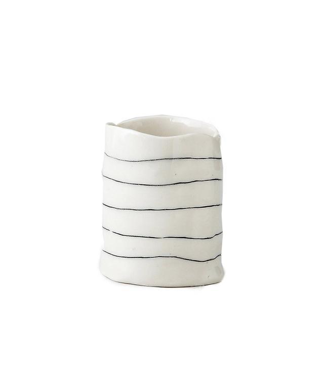 BTW Ceramics Short Striped Cup