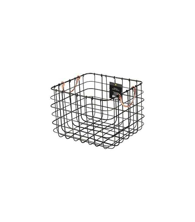 Threshold Antique Pewter Milk Crate Decorative Basket
