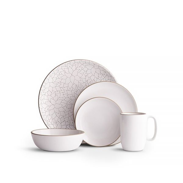 Heath Ceramics Camellia Opaque White Place Setting