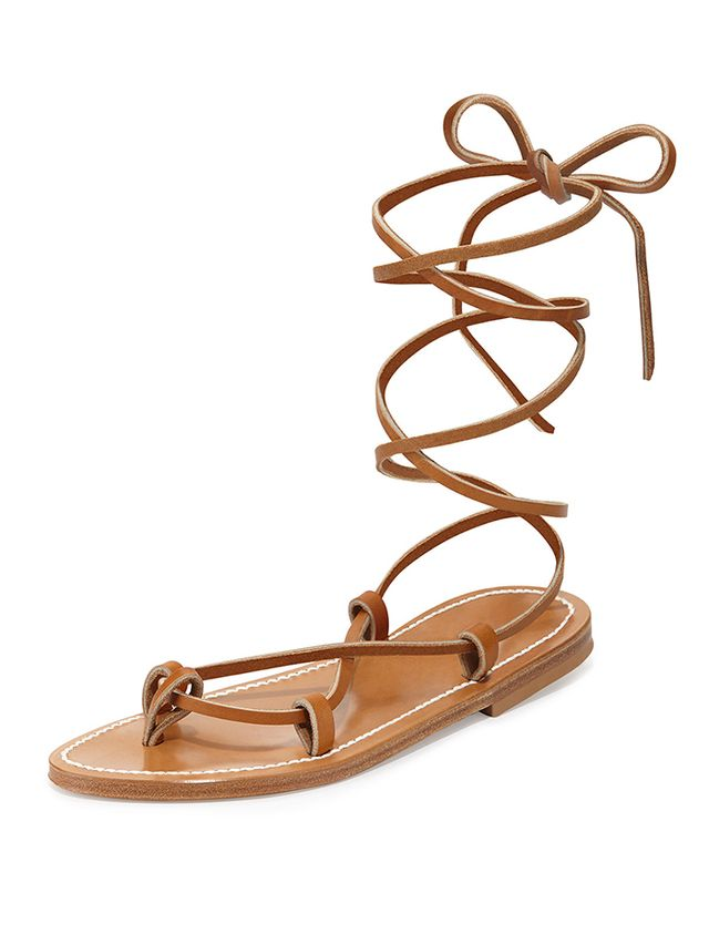 K. Jacques Bikini Leather Gladiator Sandals
