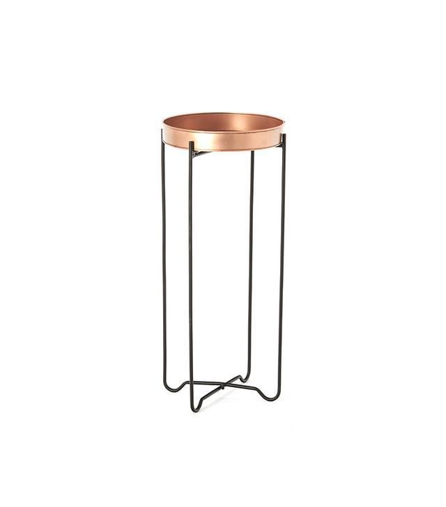 Terrain Copper Tray Plant Stand