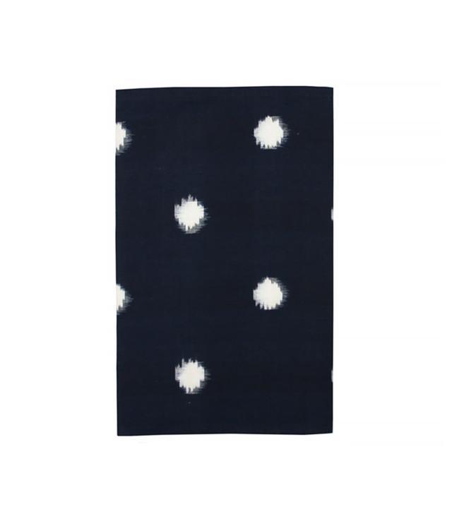 Kufri Life White Dots in Deep Navy Table Runner