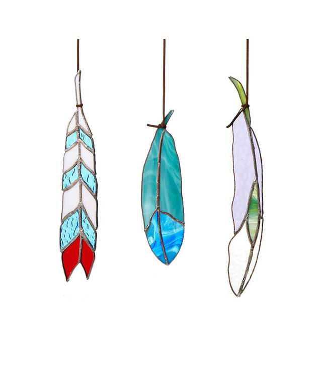 Colin Adrian Stained Glass Feathers