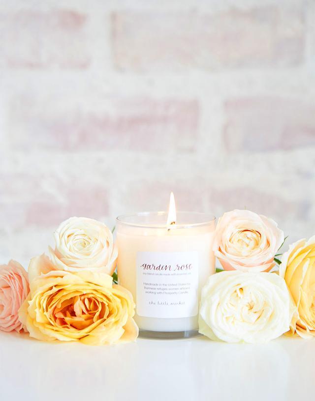 The Little Market Garden Rose Soy Blend Candle