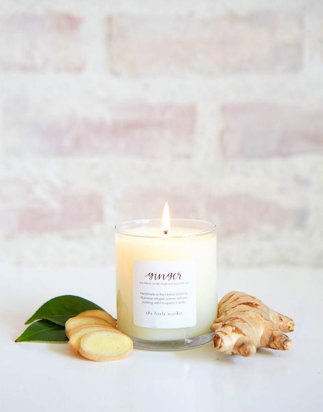 The Little Market Ginger Soy Blend Candle