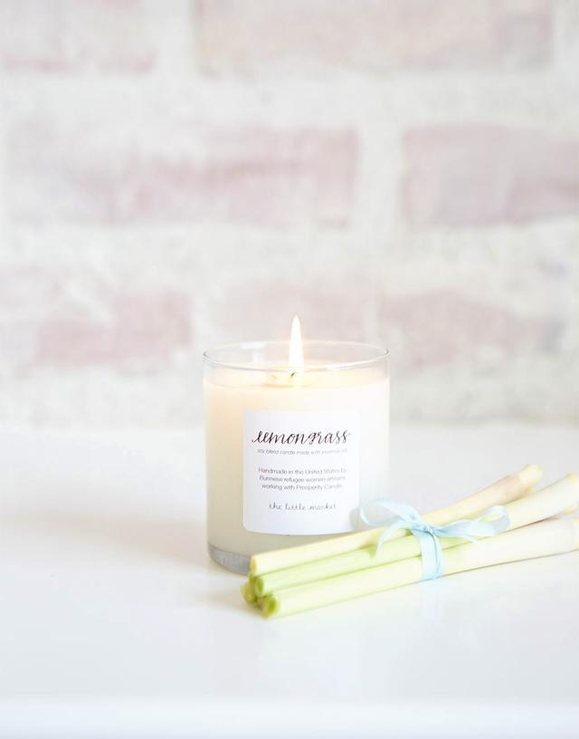 The Little Market Lemongrass Soy Blend Candle