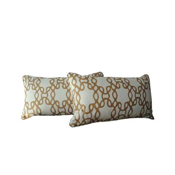Chairish Pair of Raoul Textiles Chain Pillows